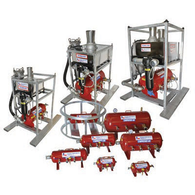 Manifolds, Moisture Separator Systems, Air Receiver Tanks, & Portable F-R-L Systems