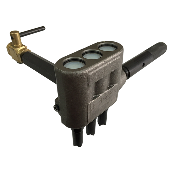 T3-AC-151 Triple Piston Scaler with Air Cock Handle & TX-00151 Pistons | Texas Pneumatic Tools, Inc.