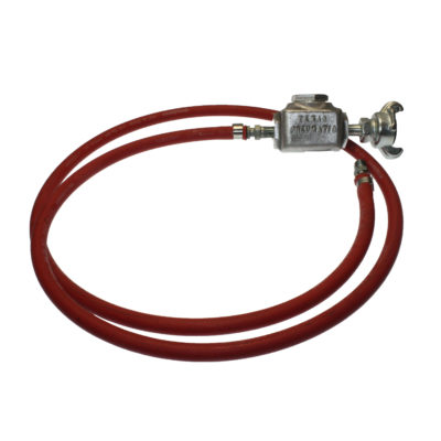 TX-1/4-1HW-1/4 Hose Whip Using Band Clamps with MPT Hose End | Texas Pneumatic Tools, Inc.