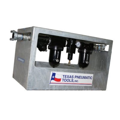 TX1-1/2HF-FRL FRL System with Galvanized Cage and 175 CFM Max Flow | Texas Pneumatic Tools, Inc.