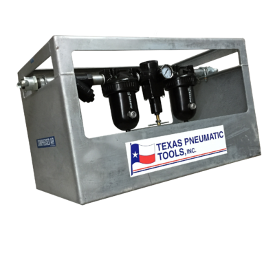 TX1/2MF-FRL FRL System with Galvanized Cage and 142 CFM Max Flow | Texas Pneumatic Tools, Inc.