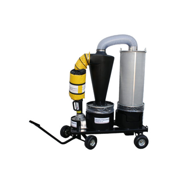 TX-DCS3 Dust Collection System w/ Cart | Texas Pneumatic Tools, Inc.