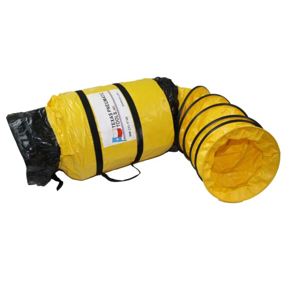 TX-SAC-N-GO-12 Twelve Inch Ducting with Attached Storage Bag | Texas Pneumatic Tools, Inc.