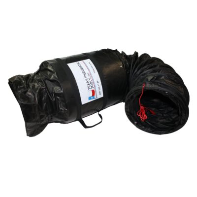 TX-SAC-N-GO-12-C Twelve Inch Electrically Conductive Ducting with Attached Storage Bag | Texas Pneumatic Tools, Inc.