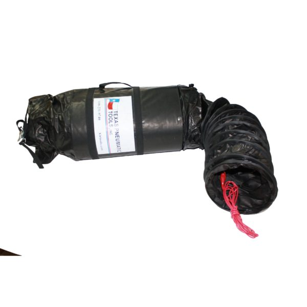 TX-SAC-N-GO-8-C Eight Inch Electrically Conductive Ducting with Attached Storage Bag | Texas Pneumatic Tools, Inc.